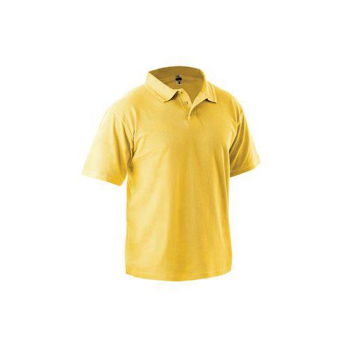 Pánská polokošile s krátkým rukávem, žlutá