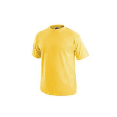 Pánské tričko s krátkým rukávem, žluté