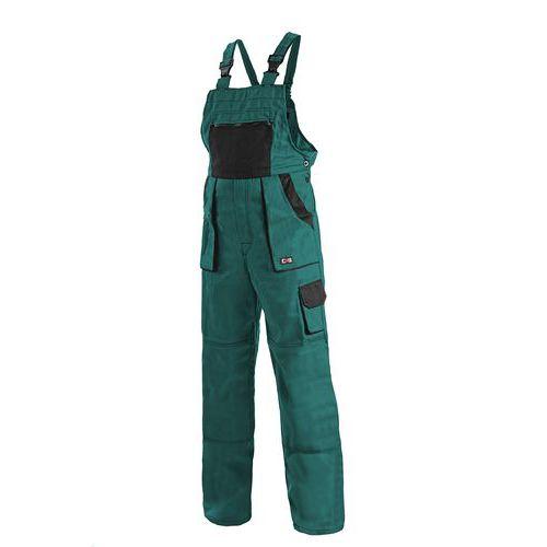 Pánské montérkové kalhoty CXS s laclem, zelené/černé