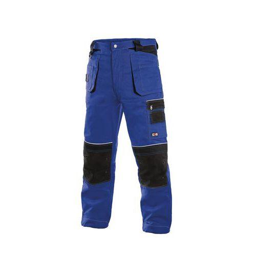 Pánské montérkové kalhoty CXS s reflexními prvky, modré/černé