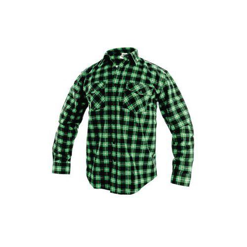Pánská flanelová košile s dlouhým rukávem CXS, zelená/černá