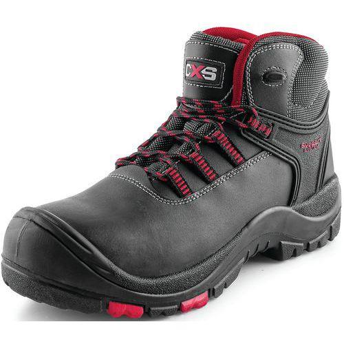 Pracovní kožené kotníkové boty CXS Rock Granite, černé, vel. 43