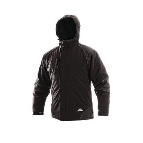 Pánská softshellová zateplená bunda, černá, vel. M