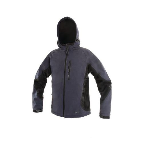 CANIS Pánská softshellová bunda PUERTO modro-černá