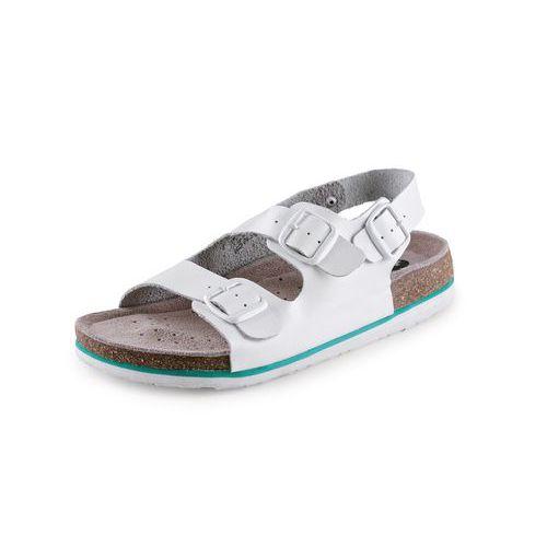 Zdravotní kožené sandály CXS Dr. Cork, dámské, bílé
