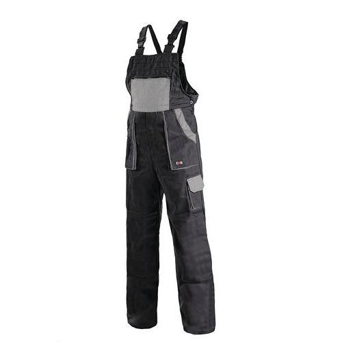 Pánské montérkové kalhoty CXS s laclem, černé/šedé
