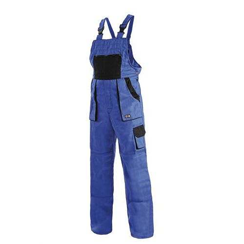 Dámské montérkové kalhoty CXS s laclem, modré/černé, vel. 54