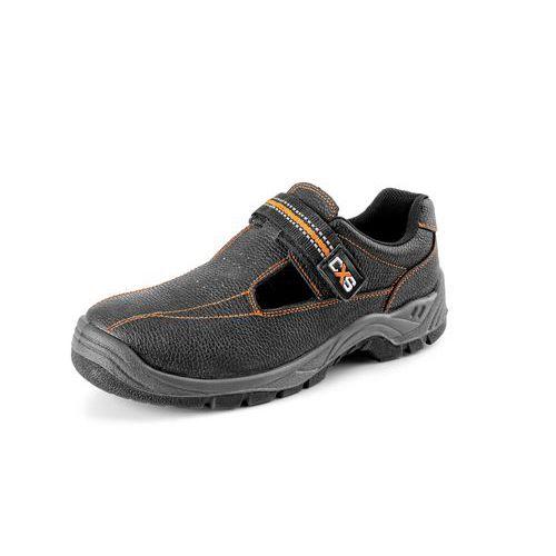 Pracovní kožené sandály CXS Stone, černé