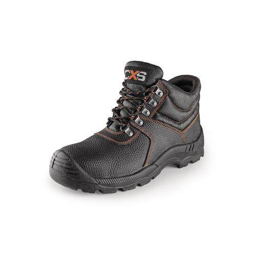 Pracovní kožené kotníkové boty CXS Stone s ocelovou špicí, černé