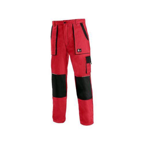 Pánské montérkové kalhoty CXS, červené/černé