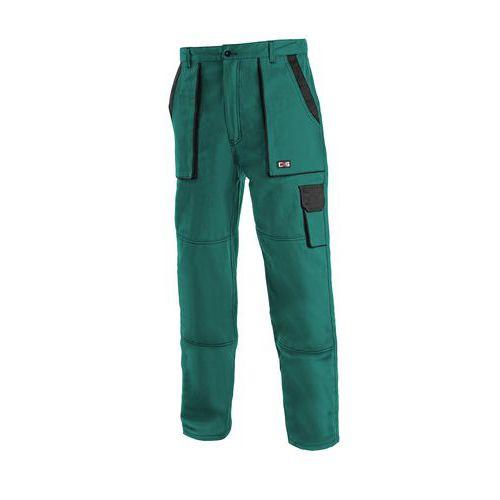 Pánské montérkové kalhoty CXS, zelené/černé