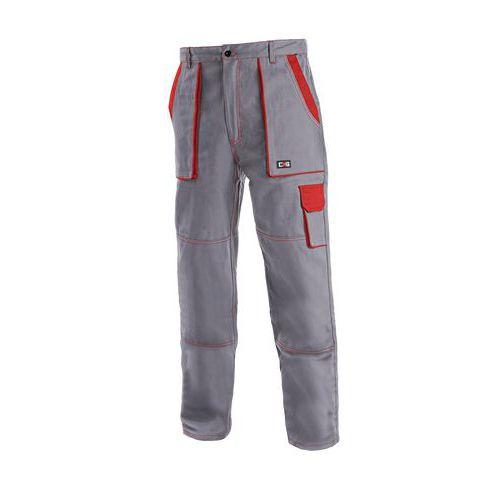 Pánské montérkové kalhoty CXS, šedé/červené