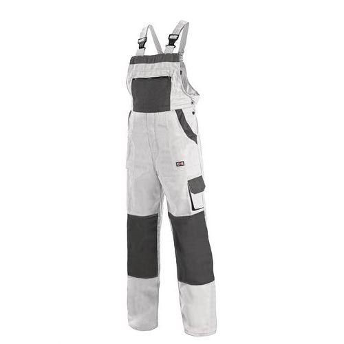 Pánské montérkové kalhoty CXS s laclem, bílé/šedé