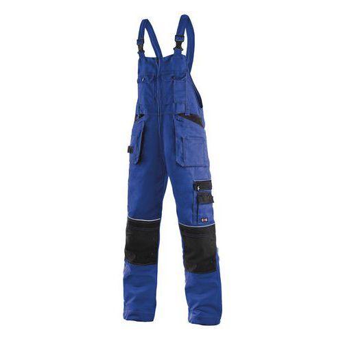 Pánské montérkové kalhoty CXS s laclem a reflexními prvky, modré/černé