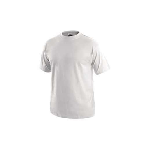 Pánské bavlněné tričko s krátkým rukávem, bílé, vel. XL
