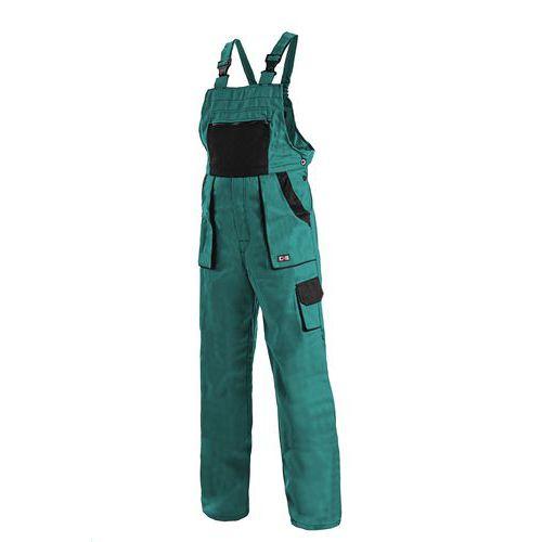 Dámské montérkové kalhoty CXS s laclem, zelené/černé