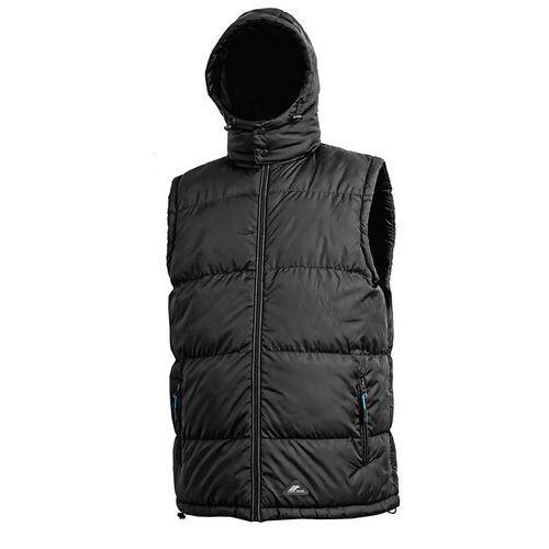 Pánská zimní vesta CXS Pierre s kapucí a reflexními prvky, černá