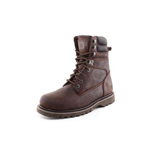 Pracovní kožené poloholeňové boty CXS Road, tmavě hnědé