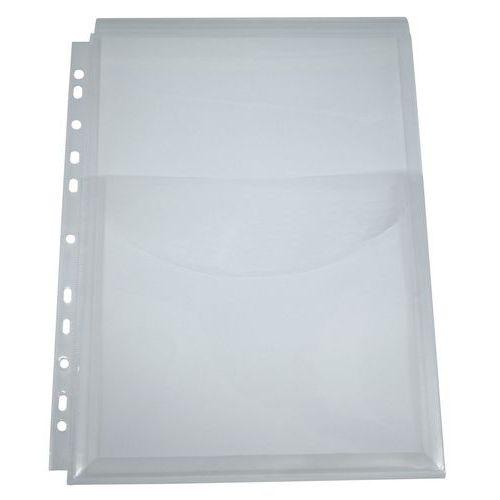 Transparentní zakládací obaly s klopou, 12 ks