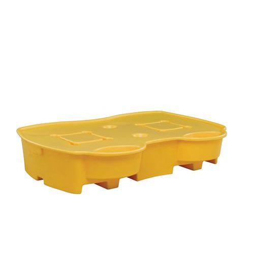 Plastová záchytná vana pod IBC a KTC kontejnery, pro 2 IBC kontejnery, kapacita 1 050 l