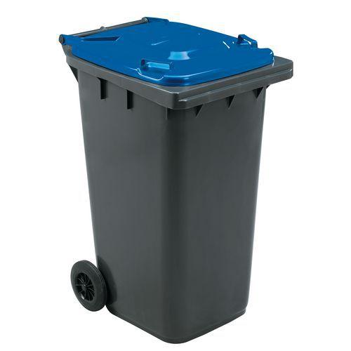 Plastová venkovní popelnice Manutan na tříděný odpad, objem 240