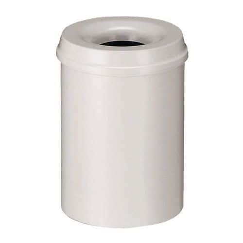 Kovový samozhášecí odpadkový koš Hole, objem 50 l, šedý - Prodloužená záruka na 10 let