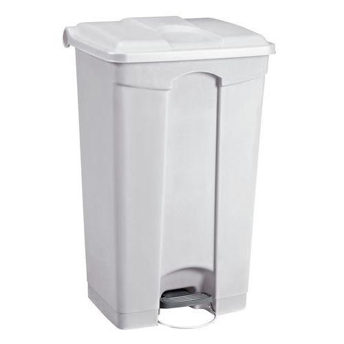 Plastový odpadkový koš Manutan, objem 90 l, bílý