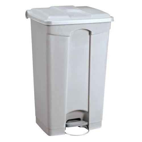 Plastový odpadkový koš Manutan, objem 90 l, šedý