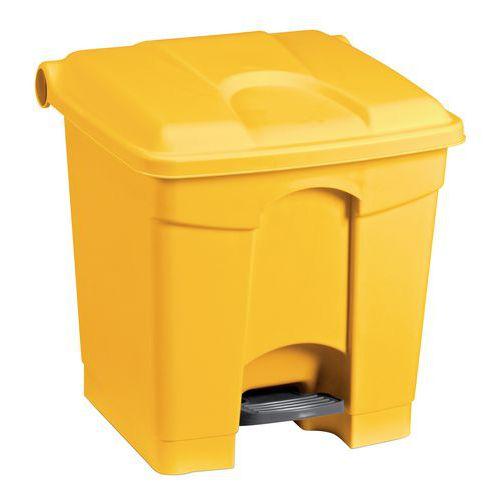 Plastový odpadkový koš Manutan, objem 30 l, žlutý