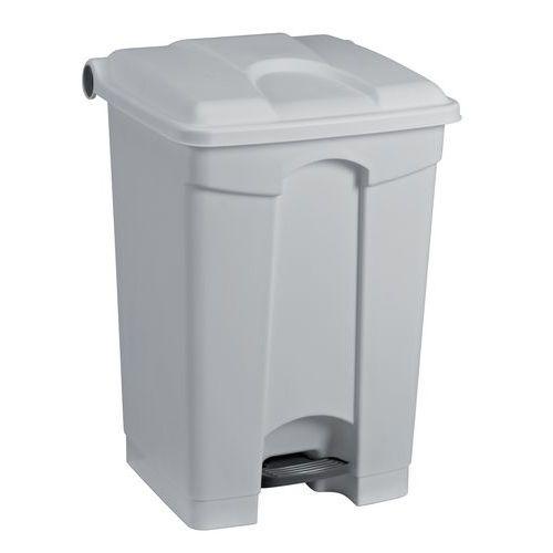 Plastový odpadkový koš Manutan, objem 70 l, šedý