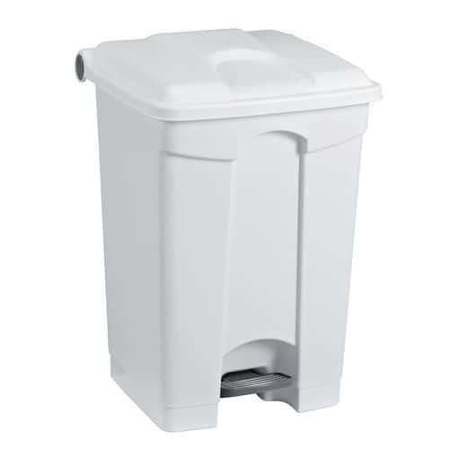 Plastový odpadkový koš Manutan, objem 70 l, bílý