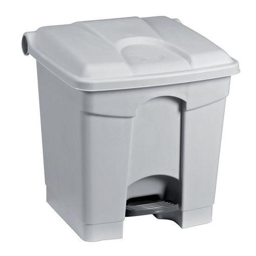 Plastový odpadkový koš Manutan, objem 30 l, šedý