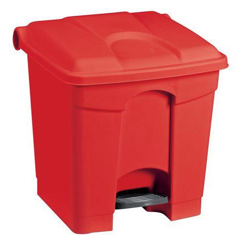 Plastový odpadkový koš Manutan, objem 30 l, červený