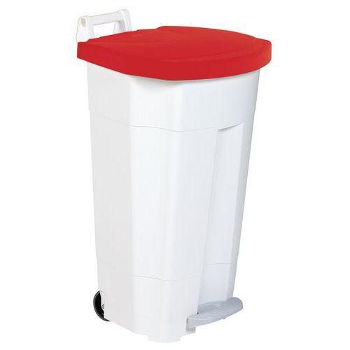 Plastový odpadkový koš Isaac, 90 l, červený