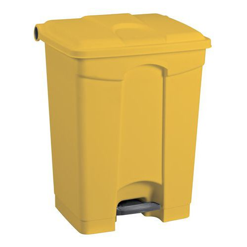 Plastový odpadkový koš Manutan, objem 45 l, žlutý