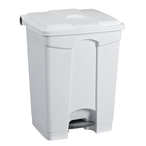 Plastový odpadkový koš Manutan, objem 45 l, bílý