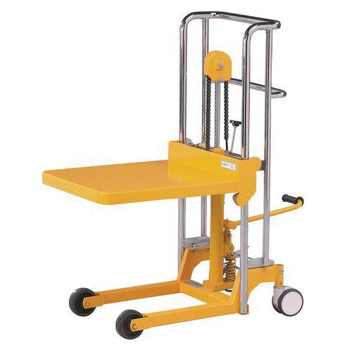 Plošinový zvedací vozík, do 200 kg, výška zdvihu 850 mm