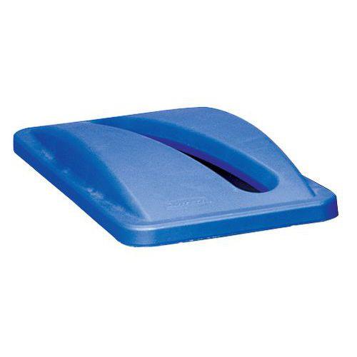 Víko na odpadkové koše Rubbermaid Slim Jim, 60 a 87 l, modré