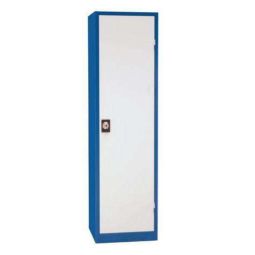Kovová dílenská skříň Manutan, 195 x 530 x 45 cm, modrá/šedá