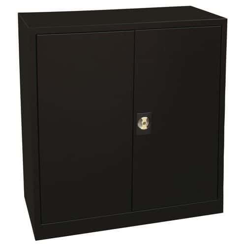 Kovová spisová skříň Manutan, 2 police, 100 x 92 x 42 cm, černá