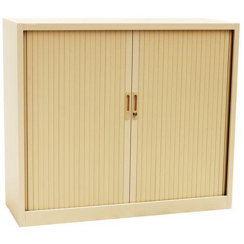 Kovové spisové skříně s roletou, 2 police, 105 x 120 x 45 cm, béžová