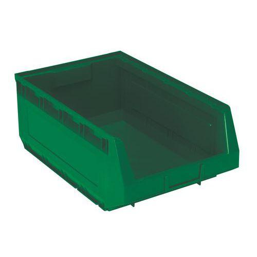 Plastový box Manutan 19 x 30,3 x 48,5 cm, zelený