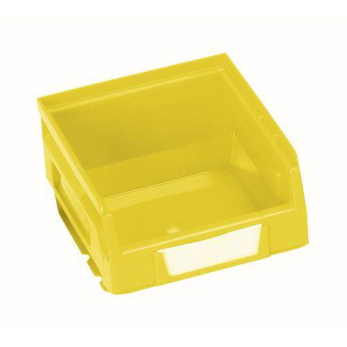 Plastový box 6,2 x 10,3 x 12 cm, žlutý