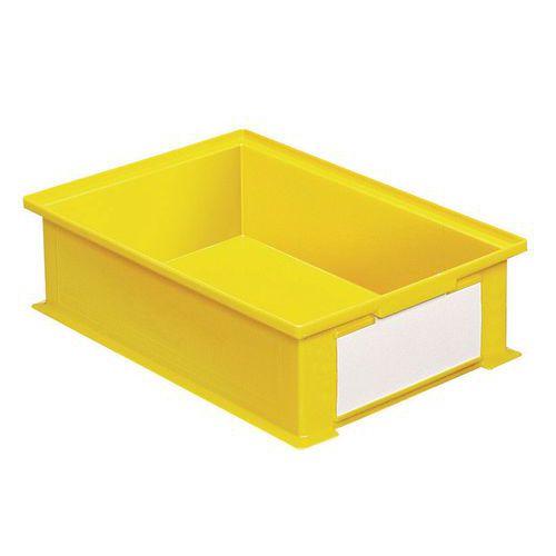 Barevná plastová přepravka PS (16,2 l), žlutá