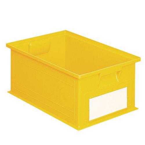 Barevná plastová přepravka PS (28 l), žlutá - Prodloužená záruka na 10 let
