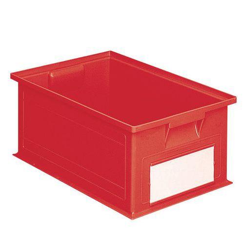 Barevná plastová přepravka PS (28 l), červená - Prodloužená záruka na 10 let