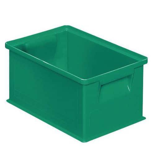 Barevná plastová přepravka PS (8,7 l), zelená - Prodloužená záruka na 10 let