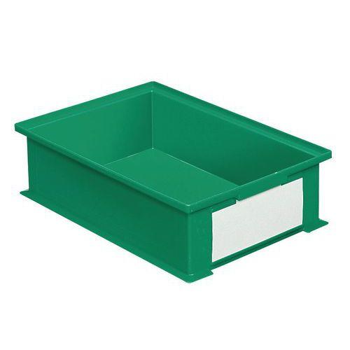 Barevná plastová přepravka PS (16,2 l), zelená