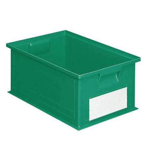 Barevná plastová přepravka PS (28 l), zelená - Prodloužená záruka na 10 let