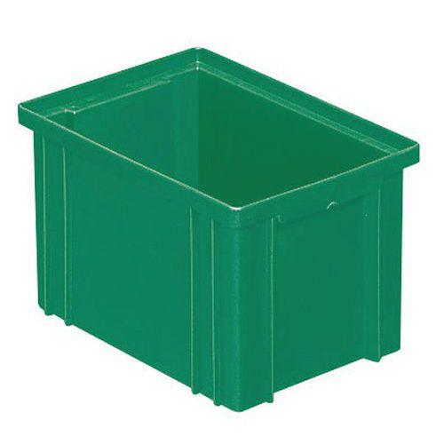 Barevná plastová přepravka PS (3,6 l), zelená - Prodloužená záruka na 10 let